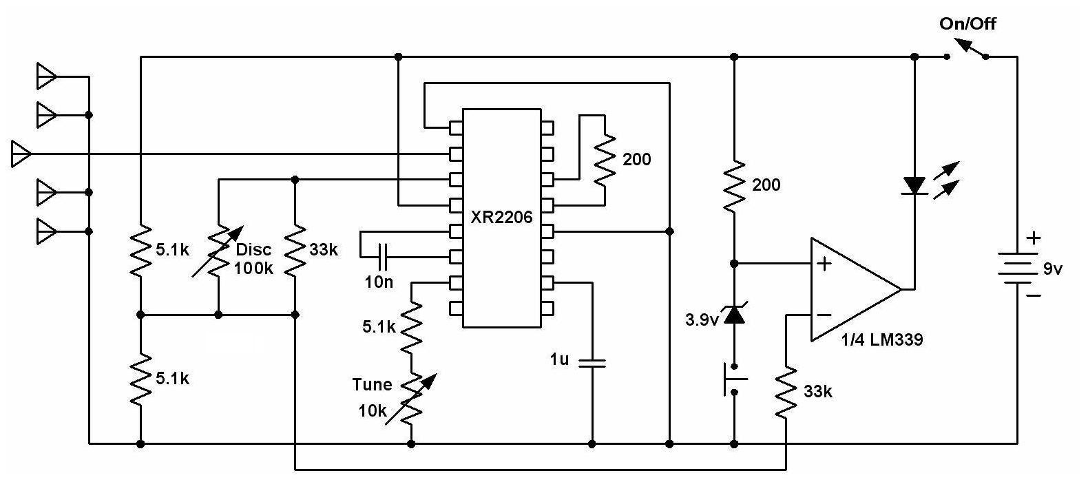 Gold Detector Circuit Dede14 Simple Metal 555 Diagram Geotech Lrls Treasure Scope Quad Rh Geotech1 Com Long Range